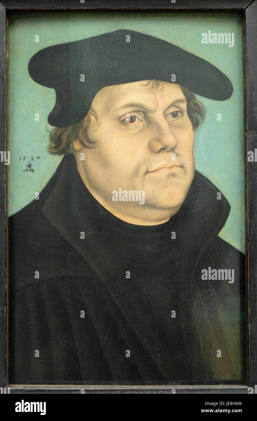 Martin Luther by Lucas Cranach the Elder - Statens Museum for Kunst - DSC08170 - Stock Image