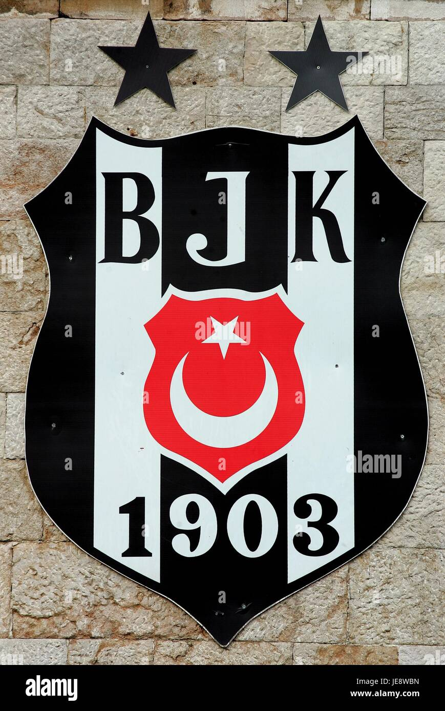 BESIKTAS FOOTBALL CLUB BADGE BESIKTAS ISTANBUL ISTANBUL TURKEY 19 April 2006 - Stock Image