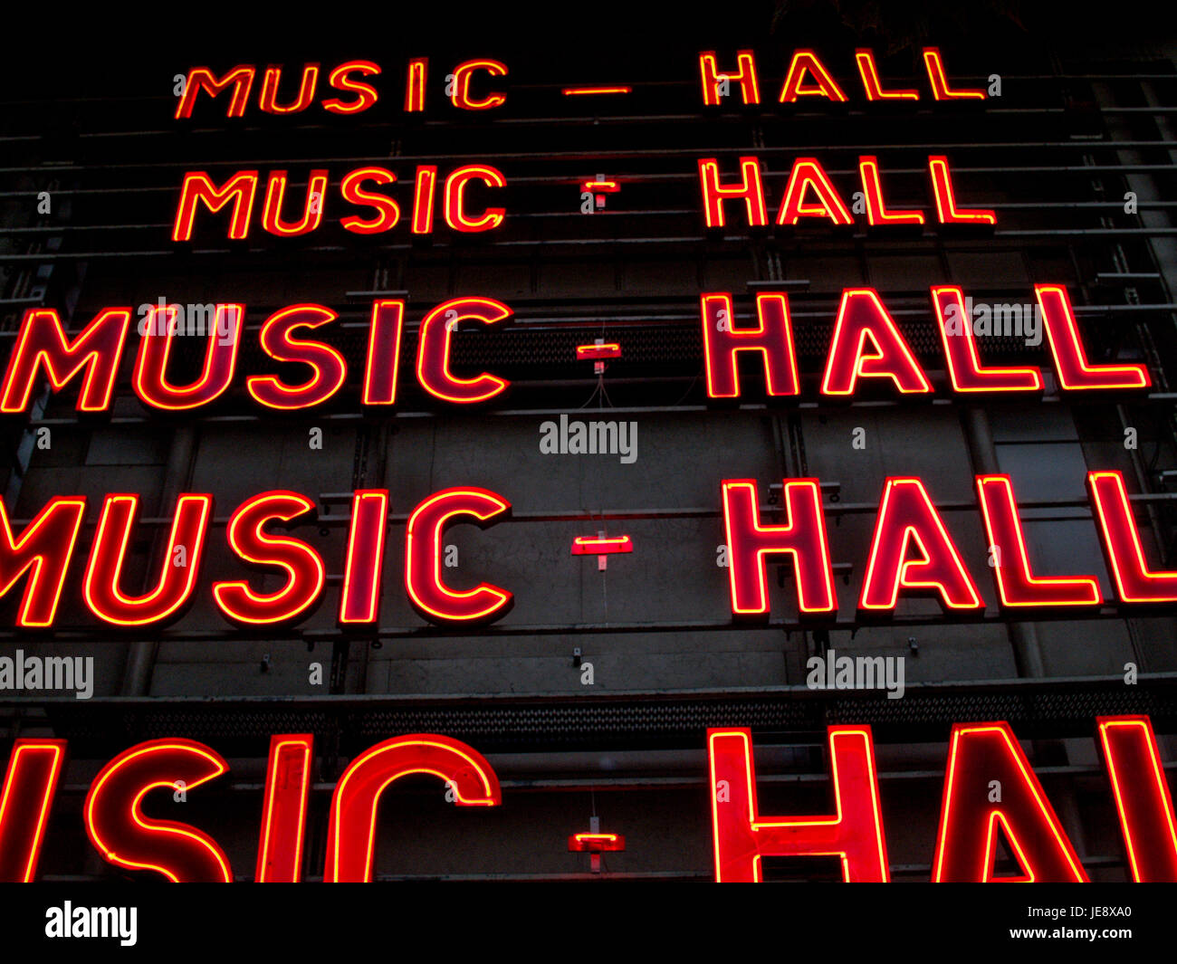 PARIS FRANCE - THE BIG LETTERS OF MUSI-HALL OLYMPIA THEATER CONSIDERED AS THE TOP PLACE FOR PERFORMERS - BOULEVARD - Stock Image