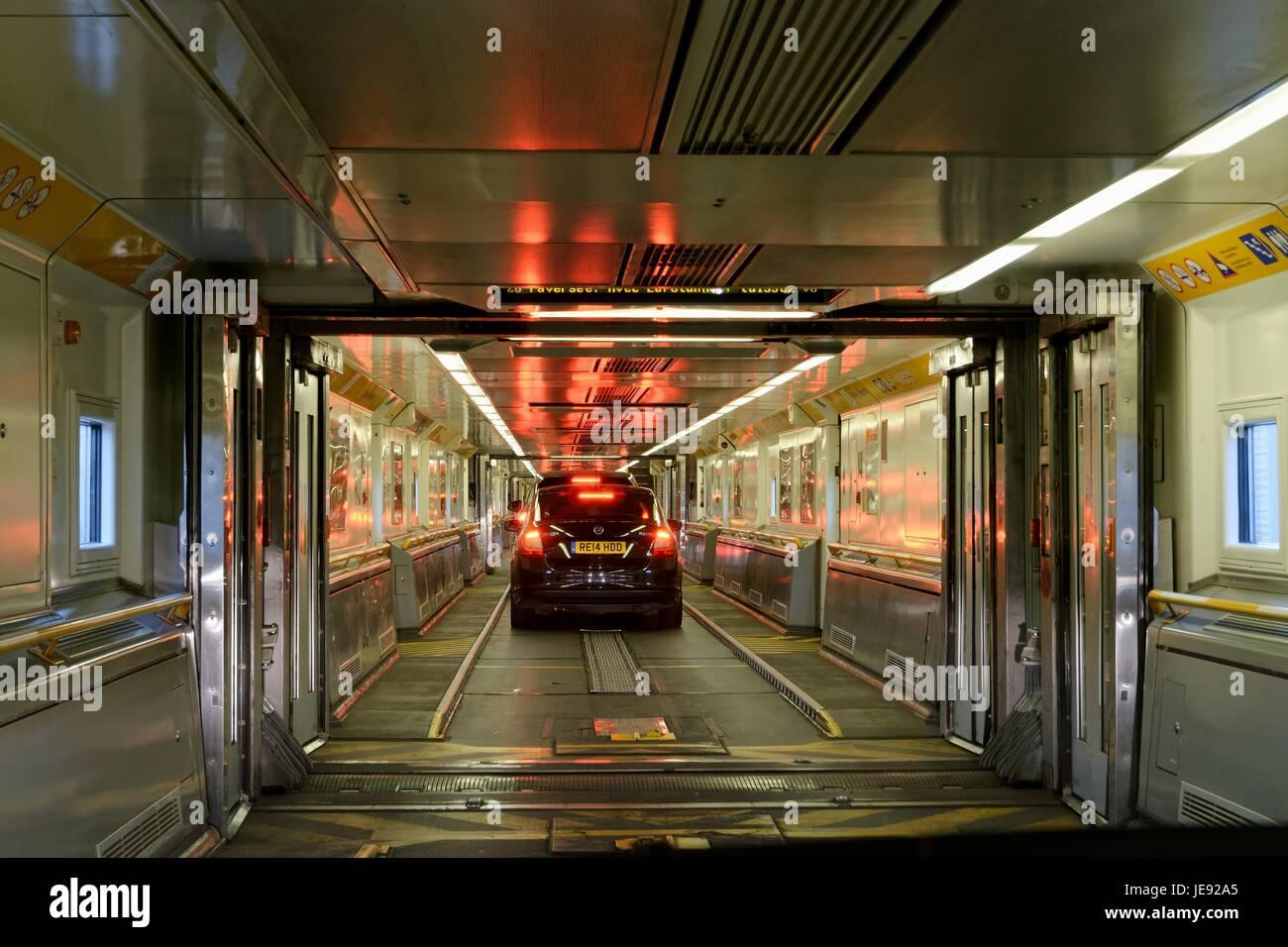 Interior Of The Eurotunnel Car Shuttle Stock Photo 146487549 Alamy