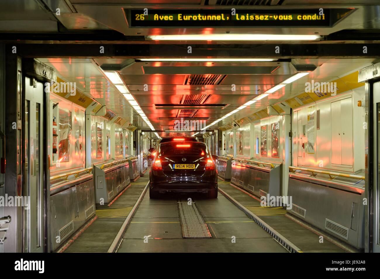 Interior Of The Eurotunnel Car Shuttle Stock Photo 146487552 Alamy