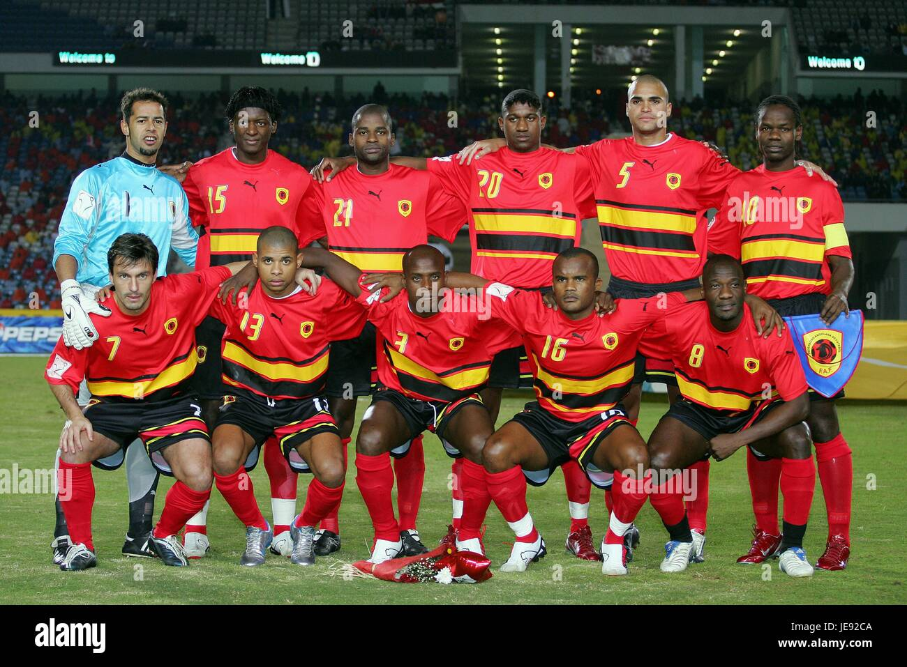 finest selection 4876a ee91f ANGOLA TEAM ANGOLA NATIONAL TEAM CAIRO EGYPT 29 January 2006 ...