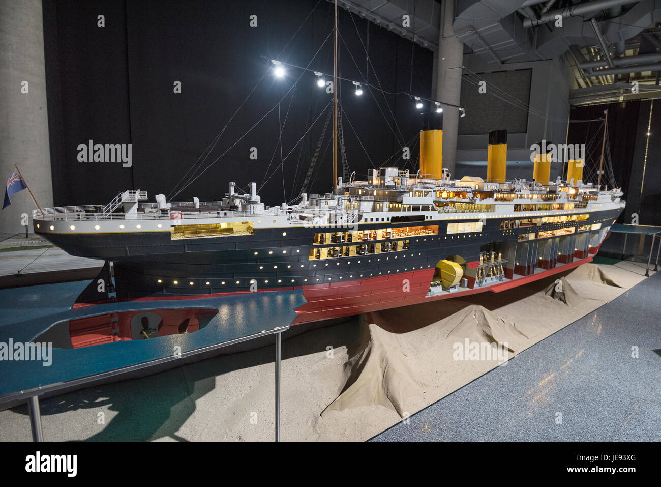Bilbao, Spain - January 4, 2017: Titanic exhibition on January 4, 2017 in Bilbao, Basque Country, Spain. - Stock Image