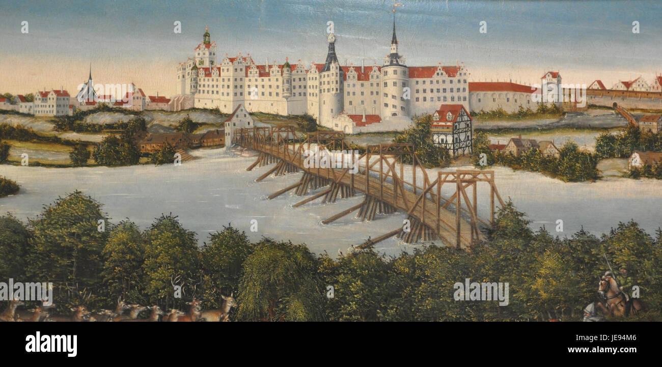 Lucas Cranach dJ Hirschjagd KHM Schloss Hartenfels Torgau - Stock Image