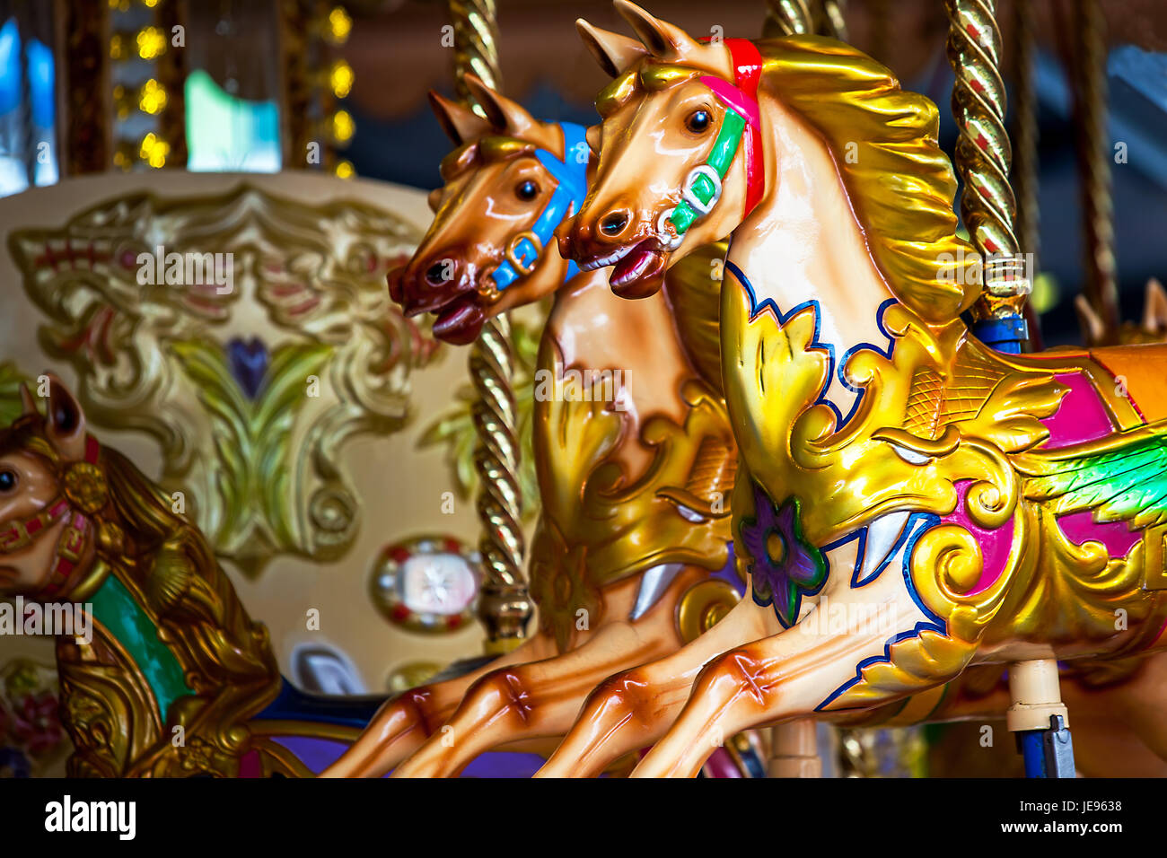 At an amusement park in Sydney New South Wales Australia - Stock Image