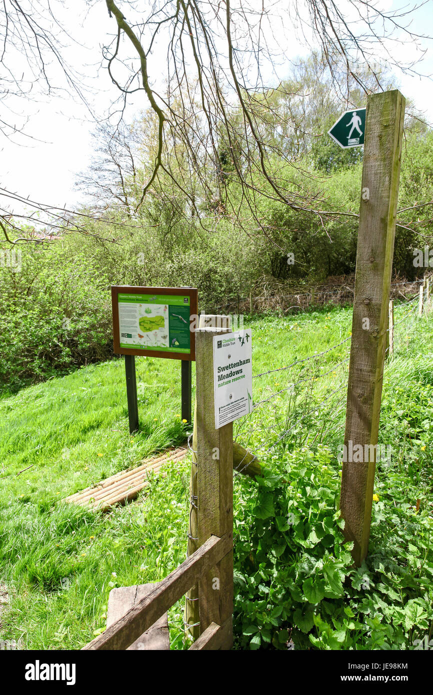Swettenham Meadows nature reserve run by Cheshire Wildlife Trust, Swettenham Cheshire England UK - Stock Image