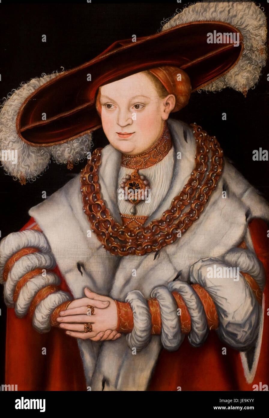 Cranach, Lucas I - Magdalena of Saxony - Art Institute of Chicago - Stock Image