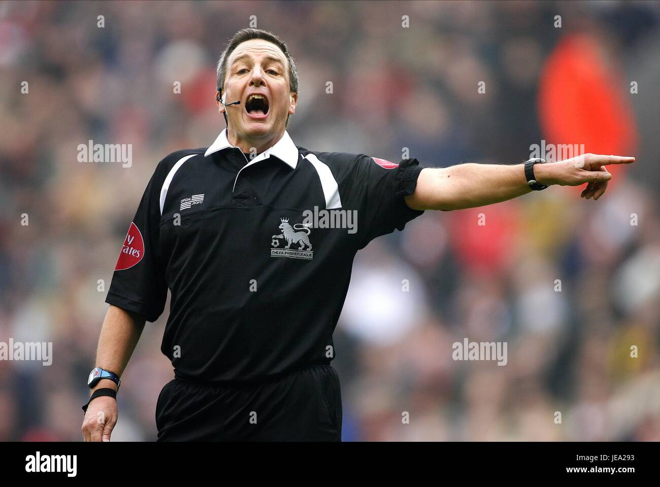 ALAN WILEY PREMIERSHIP REF LIVERPOOL V EVERTON ANFIELD LIVERPOOL ENGLAND 03 February 2007 - Stock Image