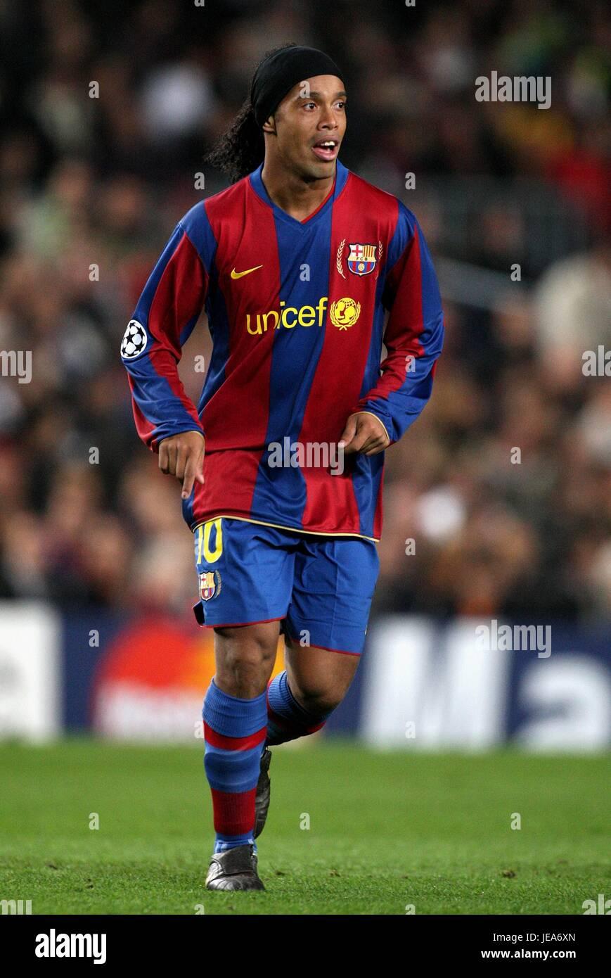 Ronaldinho Fc Barcelona Nou Camp Barcelona Spain 07 November 2007 Stock Photo Alamy