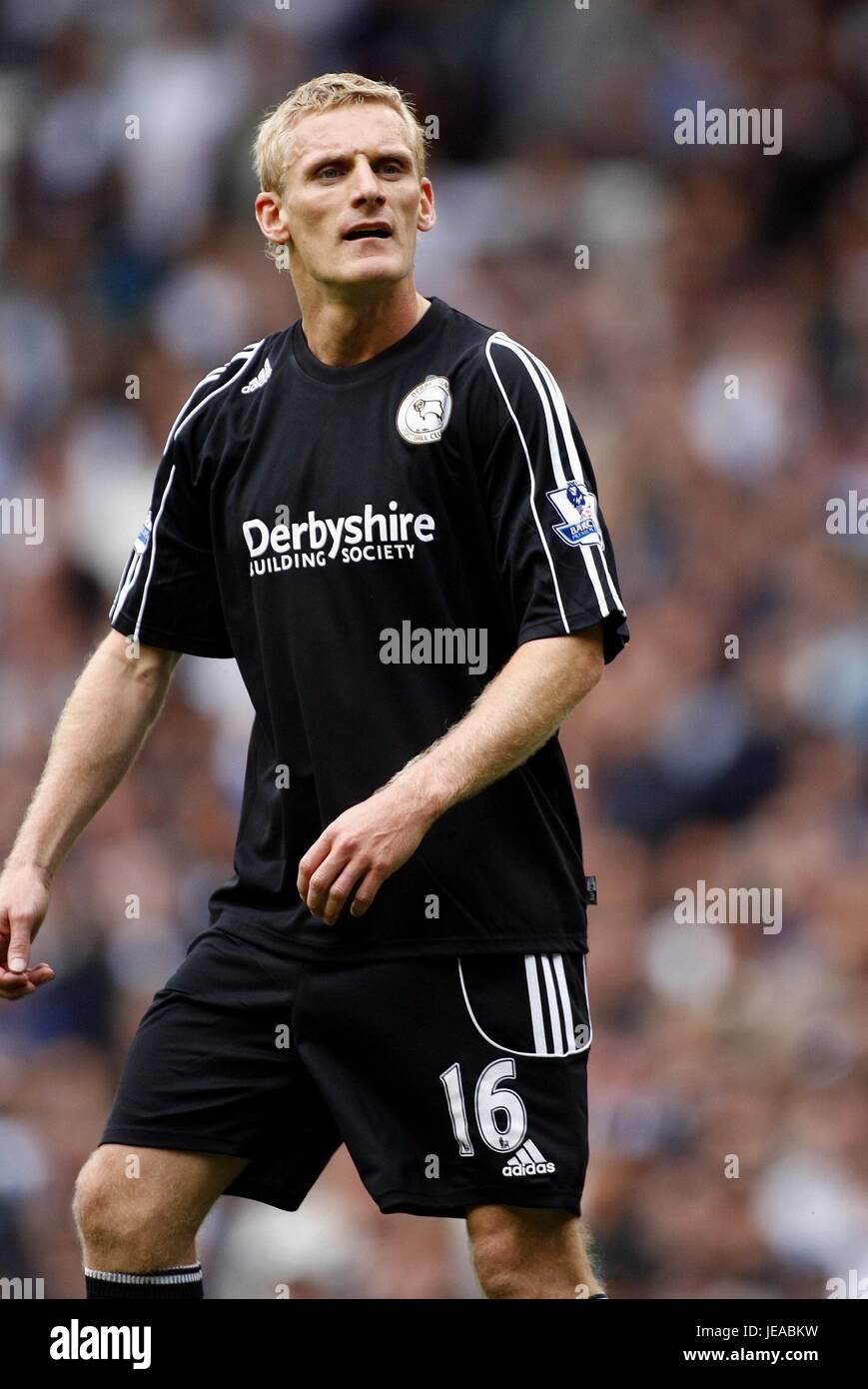 GARY TEALE DERBY COUNTY FC WHITE HART LANE TOTTENHAM LONDON ENGLAND 18 August 2007 - Stock Image