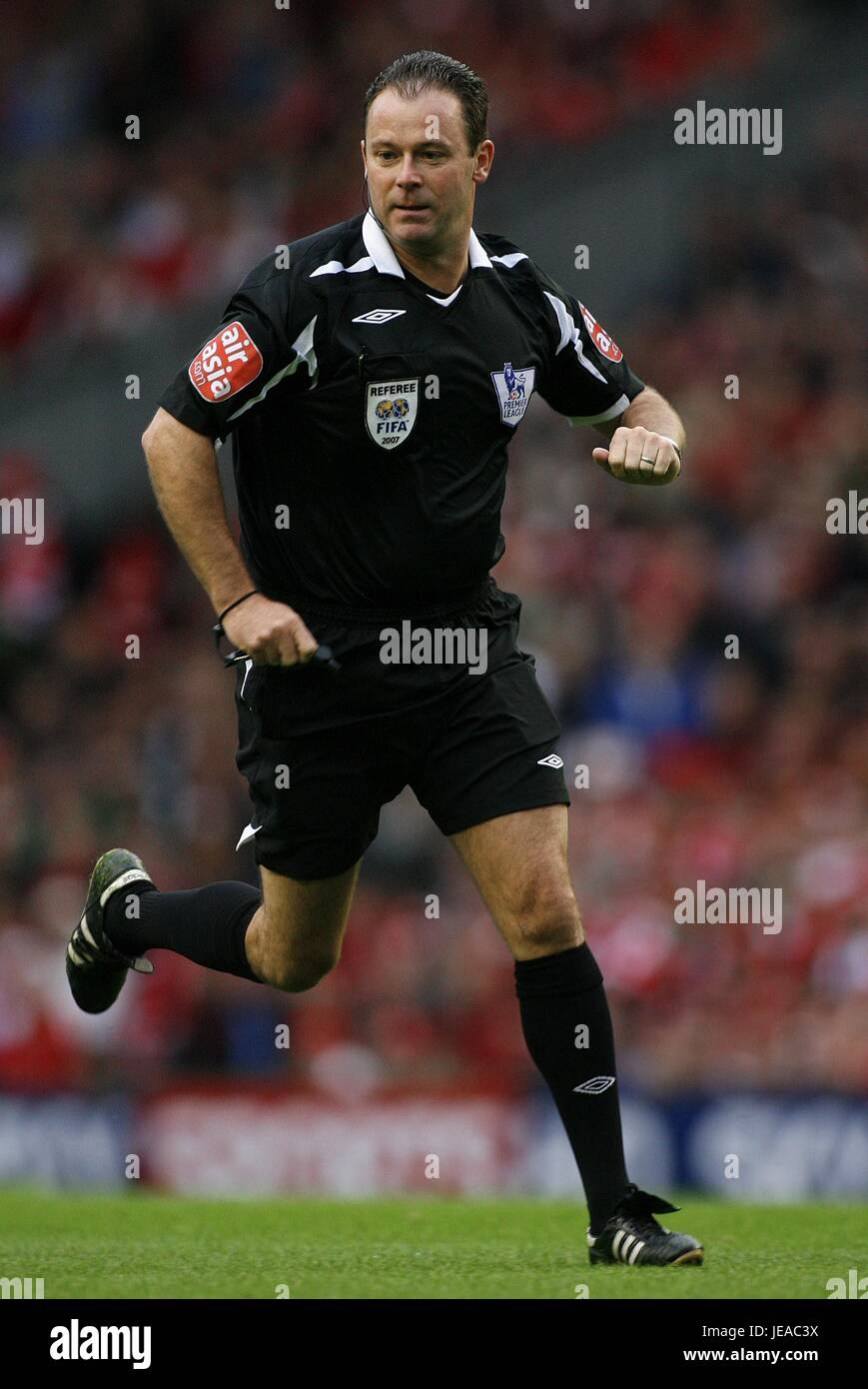 ROB STYLES PREMIERSHIP REFEREE ANFIELD LIVERPOOL ENGLAND 19 August 2007 - Stock Image