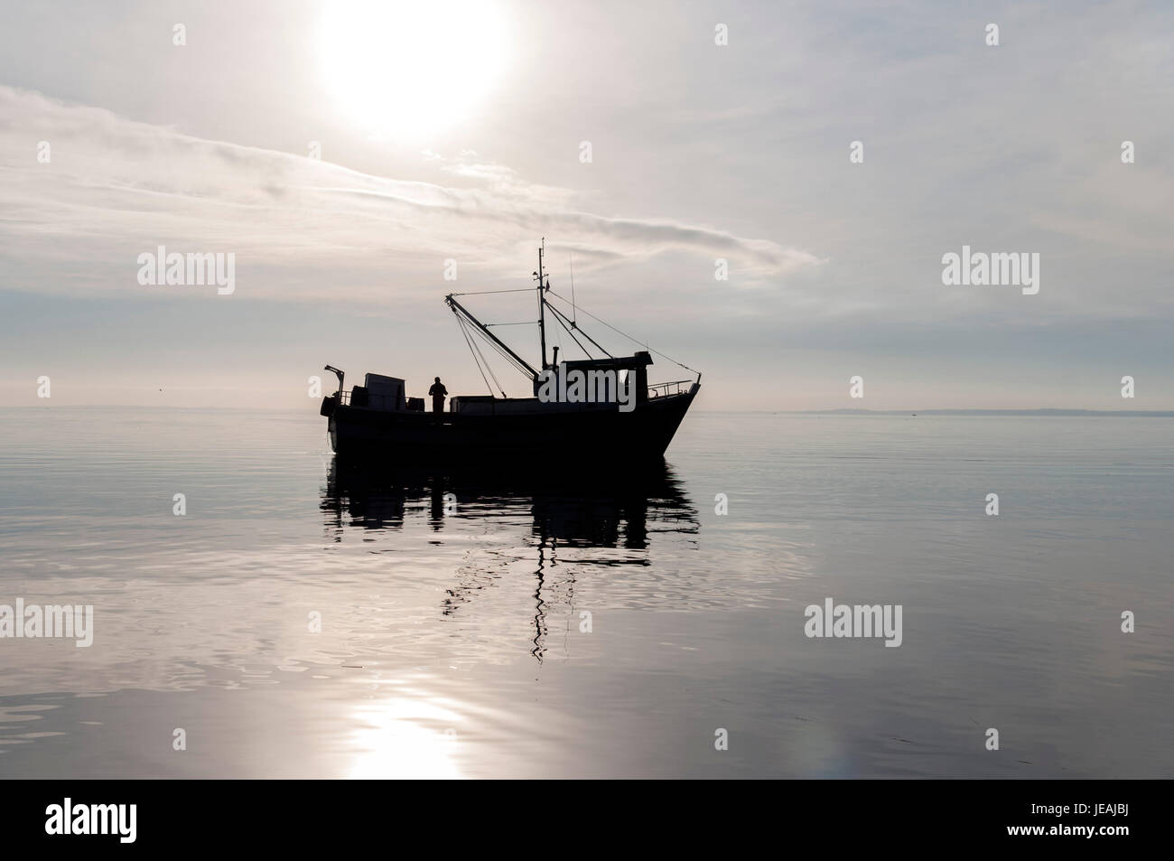 Barcos en Contraluz / Boats in shadow Stock Photo