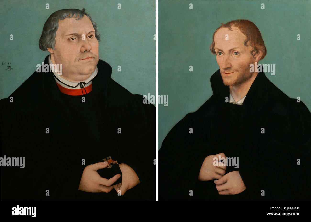 Lucas Cranach d.J. - Martin Luther & Philippe Melanchthon (1546) - Stock Image