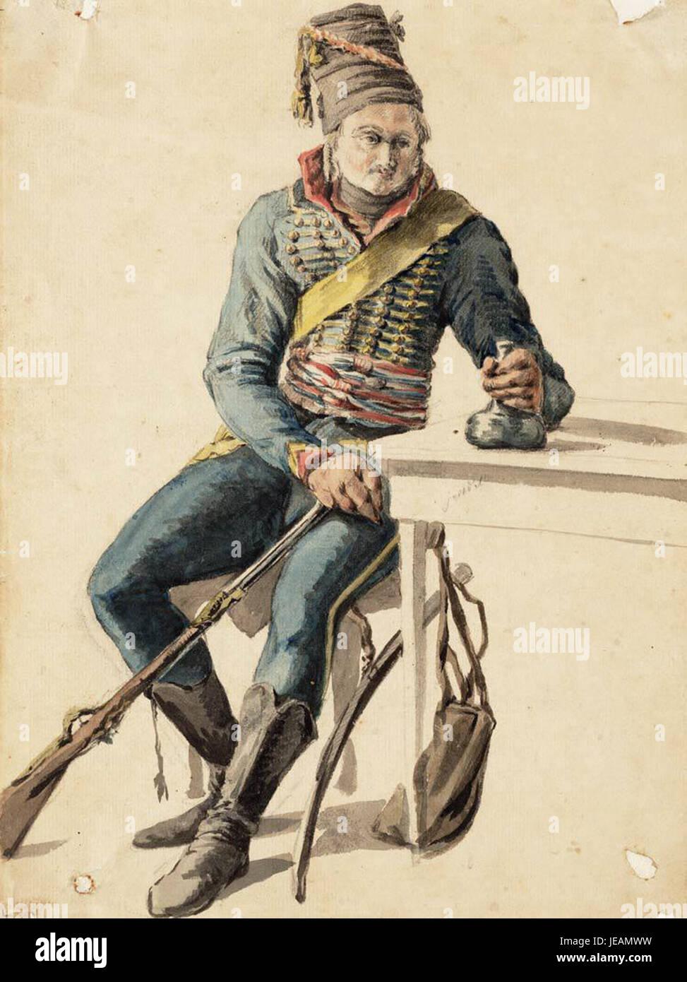 Ao 1795, Huzaar van de Bataafse Republiek - Stock Image