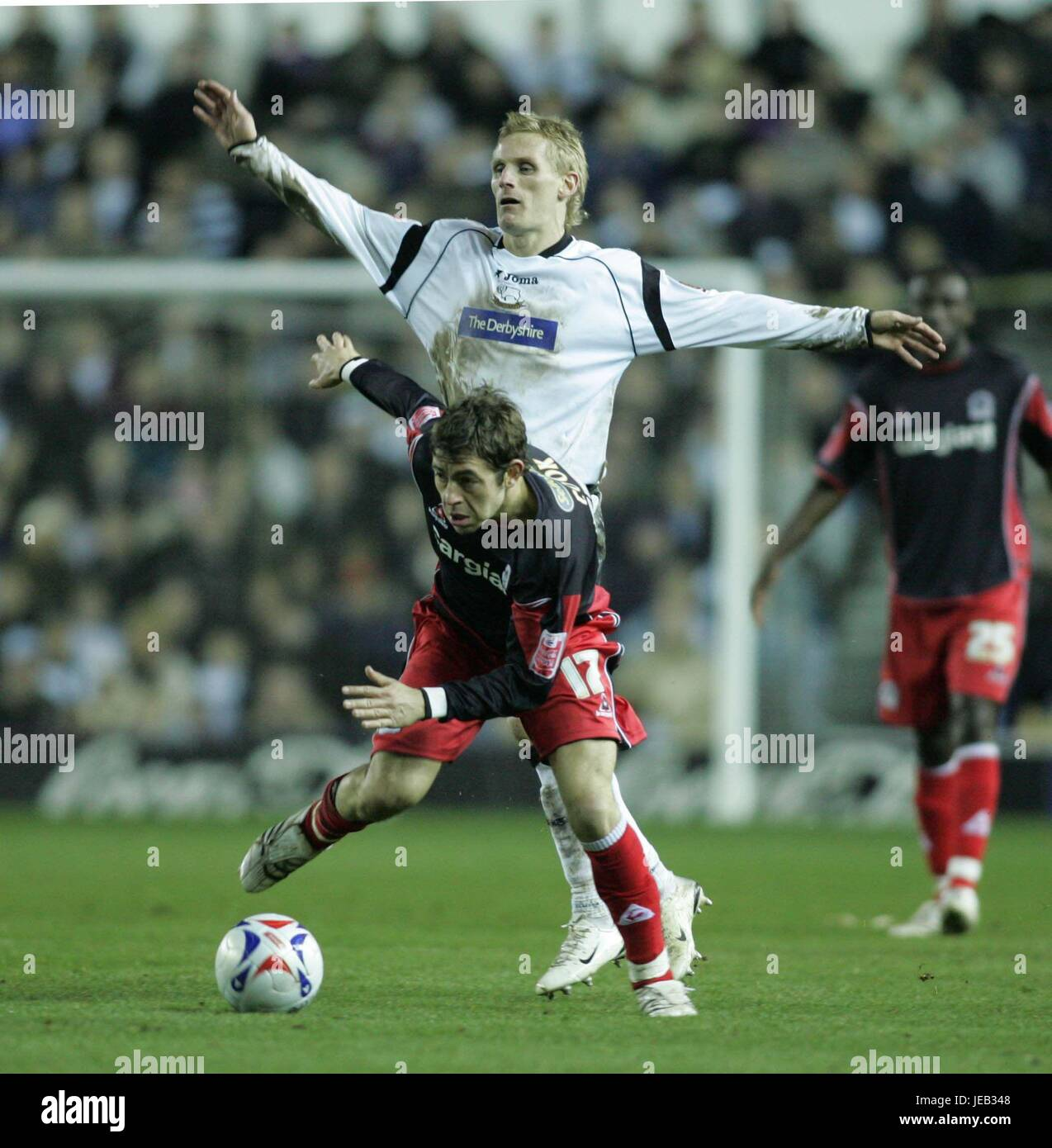 COOK AND TEALE DERBY COUNTY V Q.P.R. PRIDE PARK DERBY GREAT BRITAIN 13 March 2007 - Stock Image