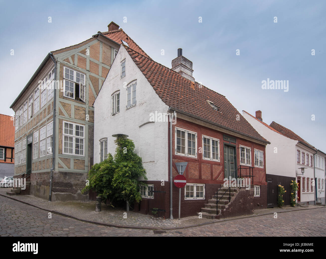 Haderslev is a Danish town of Region of Southern Denmark with a population of 21,574.  the main town and the administrative - Stock Image