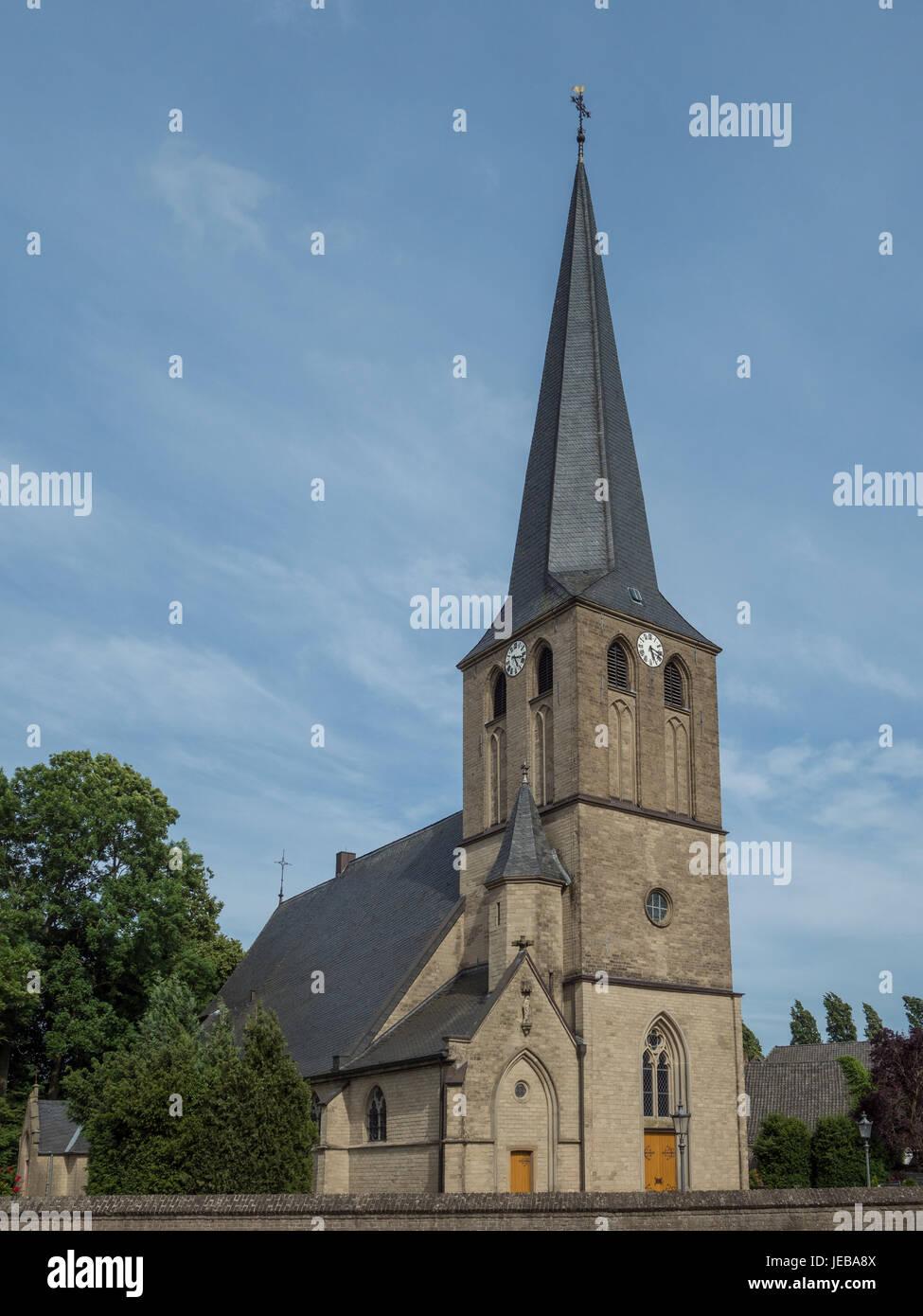 St. Regenfledis church in Kalkar, Hoennepel, Germany - Stock Image