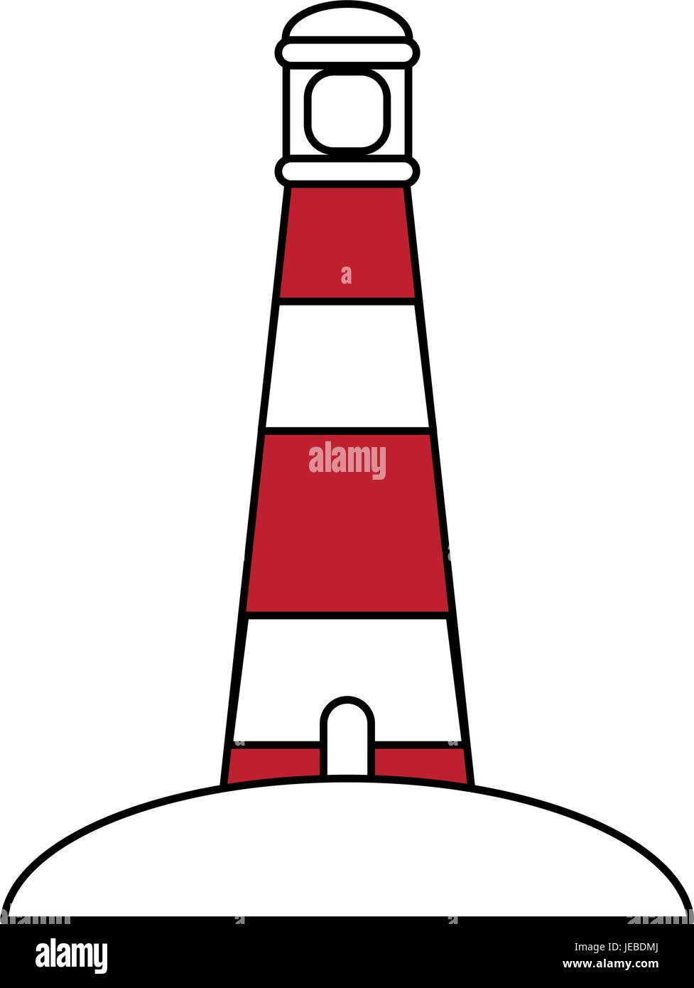 Lighthouse vector illustration - Stock Image
