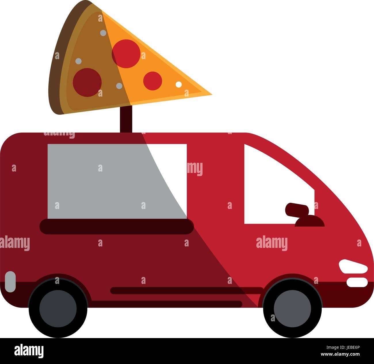 pizza domicile fast food - Stock Image