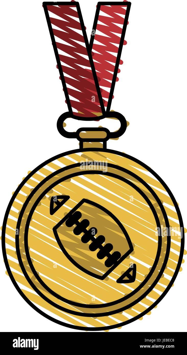 medal winner sport - Stock Vector