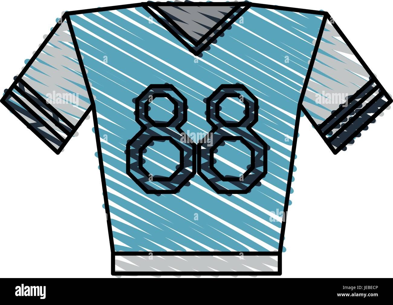 shirt clothe sport - Stock Image