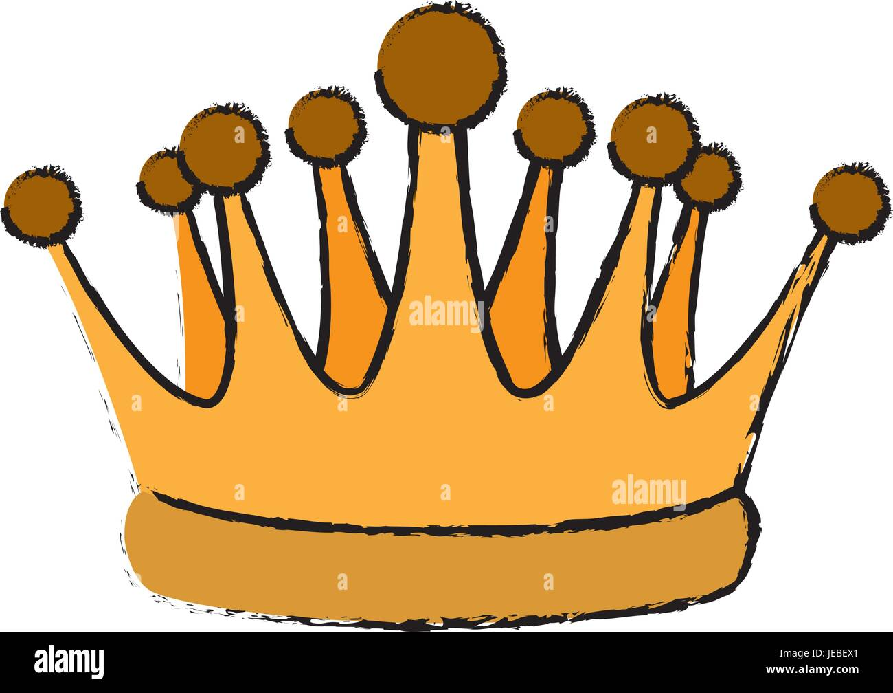gold crown royal luxury monarchy king - Stock Vector