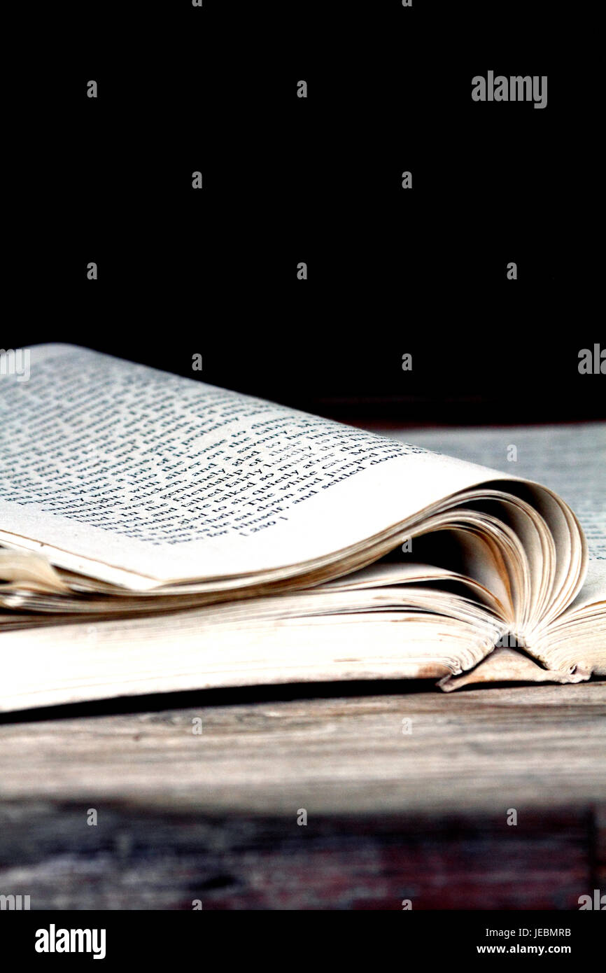 An old open book - Stock Image
