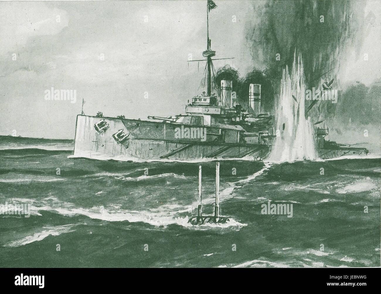 Turkish Ship sunk by British Submarine - Stock Image