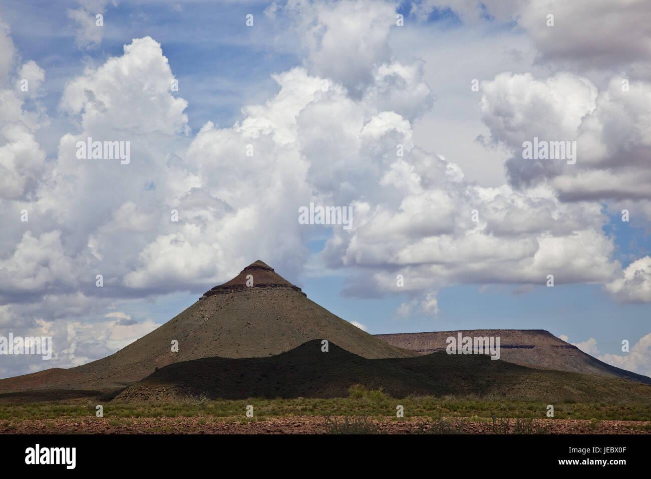 Africa, Namibia, Kunene region, Damara country, skeleton coasts park, mountain, margin, skeleton coast park, mountain - Stock Image