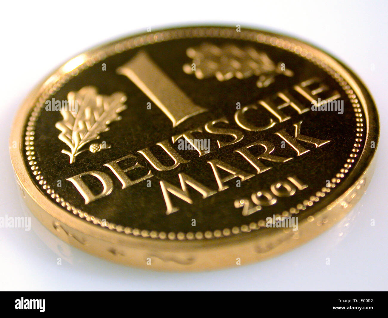 1 DM of coin in gold, - Stock Image