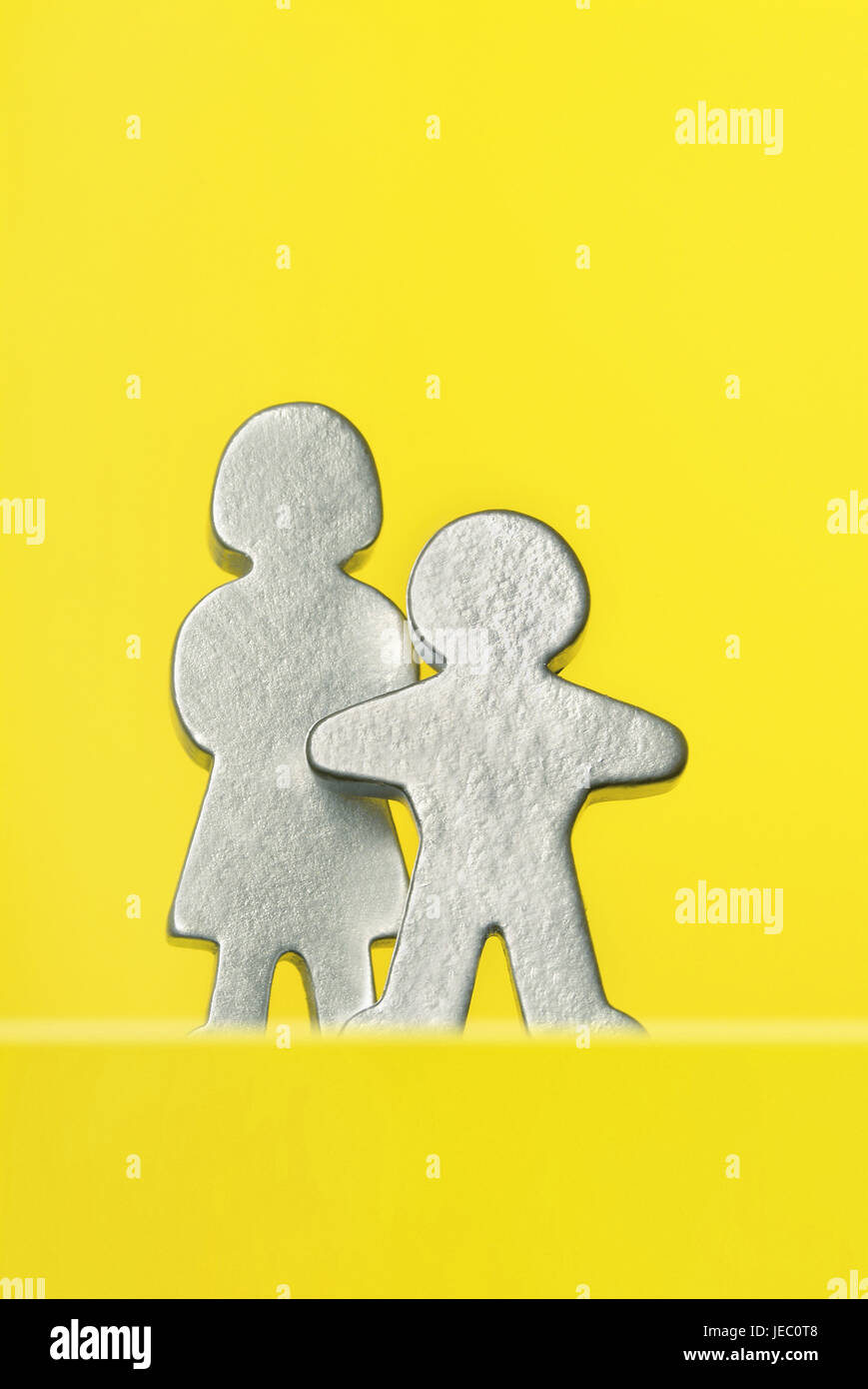 Characters, woman and child, - Stock Image