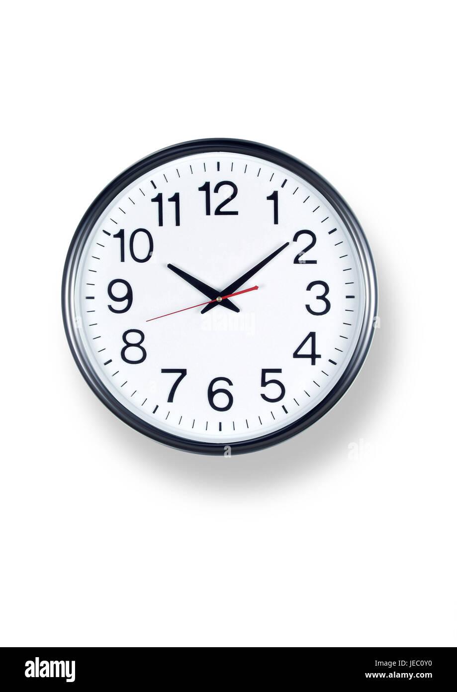 Clock, wall clock, analogously, - Stock Image