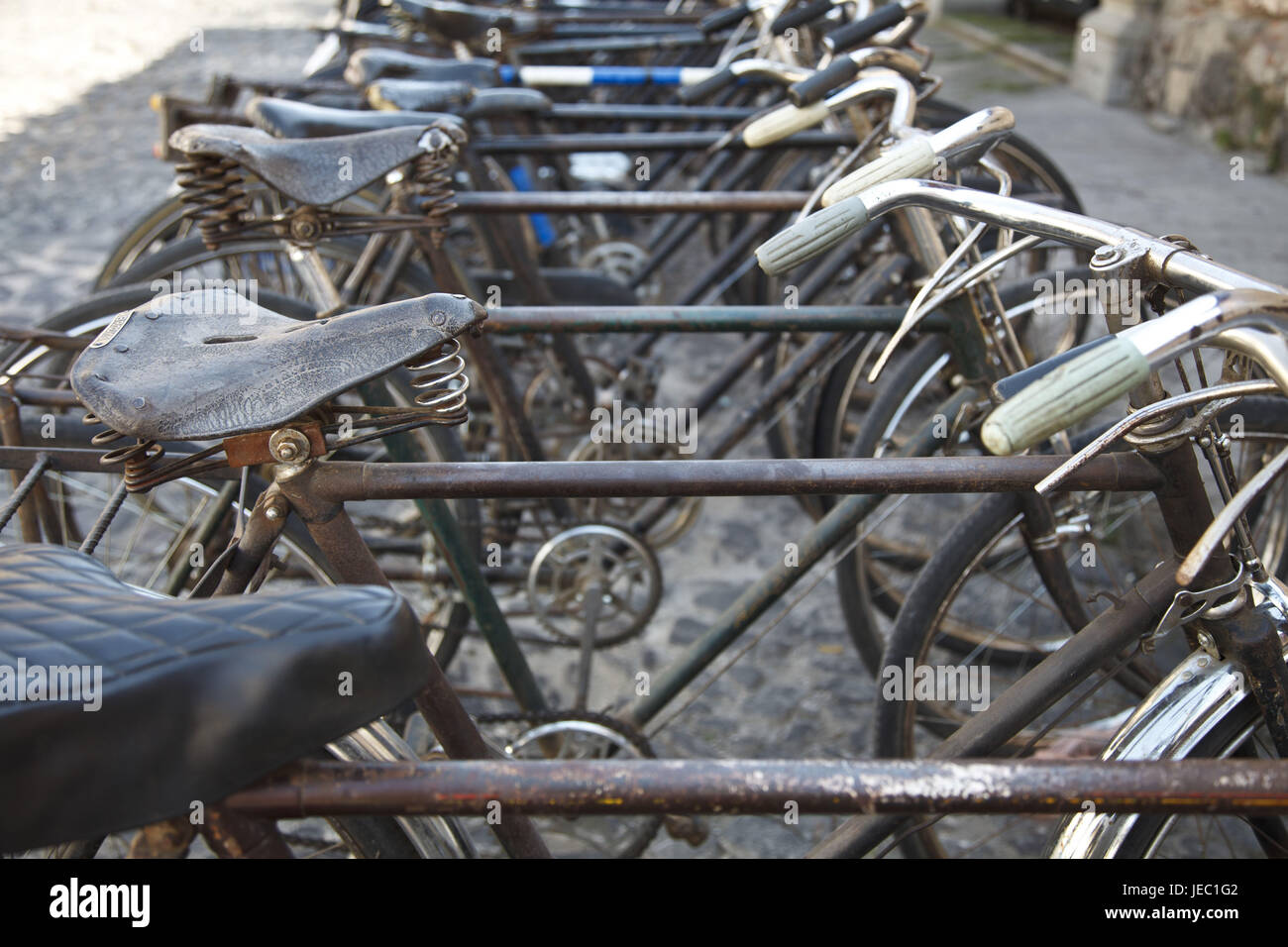 Guatemala, Antigua Guatemala, bicycles, alto, - Stock Image