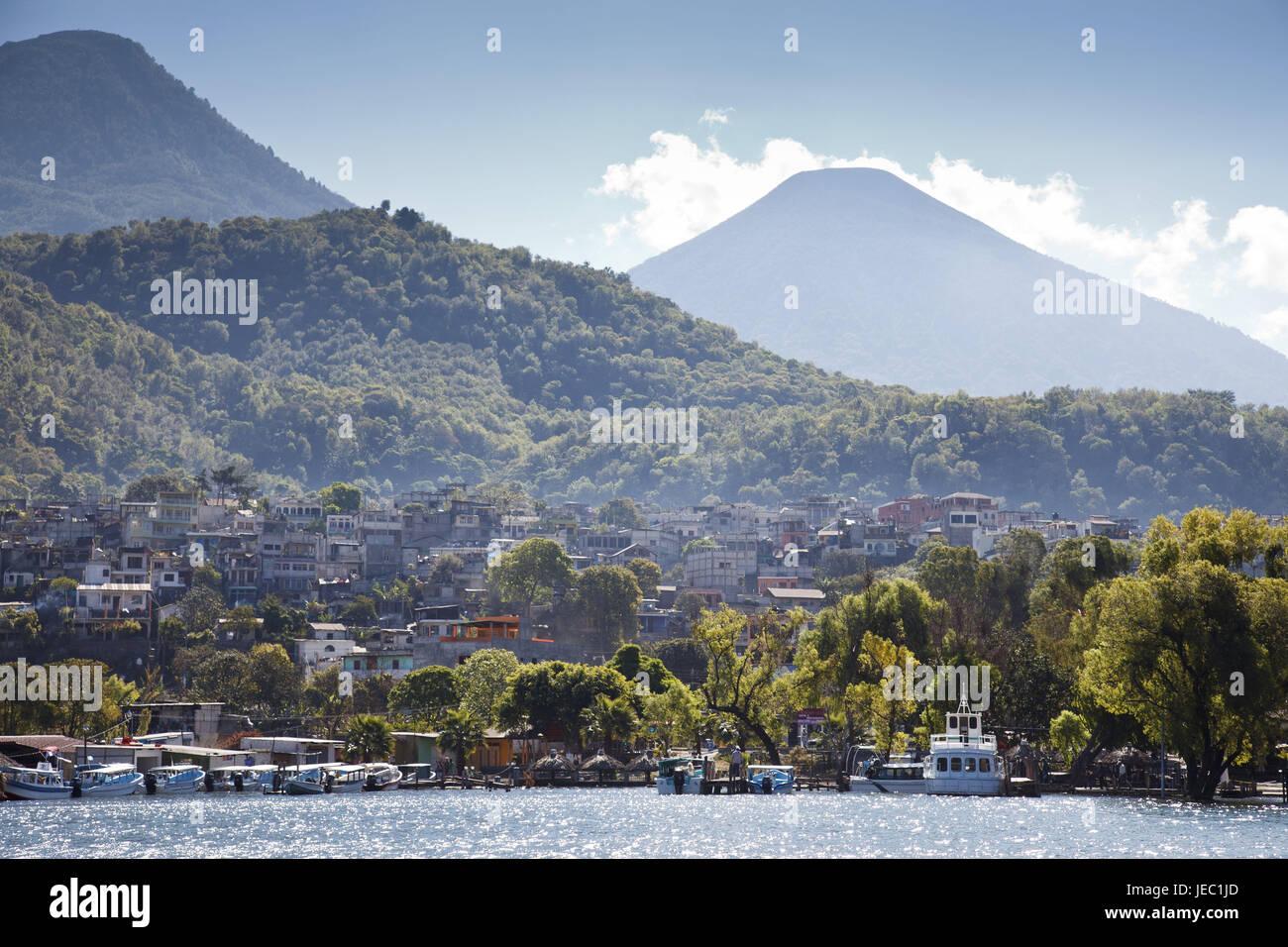 Guatemala, Atitlan lake, Santiago Atitlan, Stock Photo