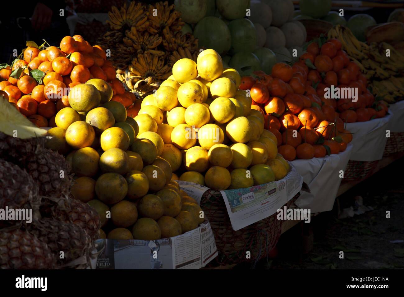 Guatemala, Solola, market, fruit, - Stock Image