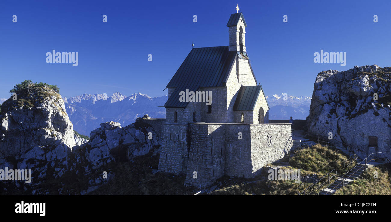 Germany, Bavaria, Bayrischzell, höchstgelegene church of Germany on the coil stone, - Stock Image