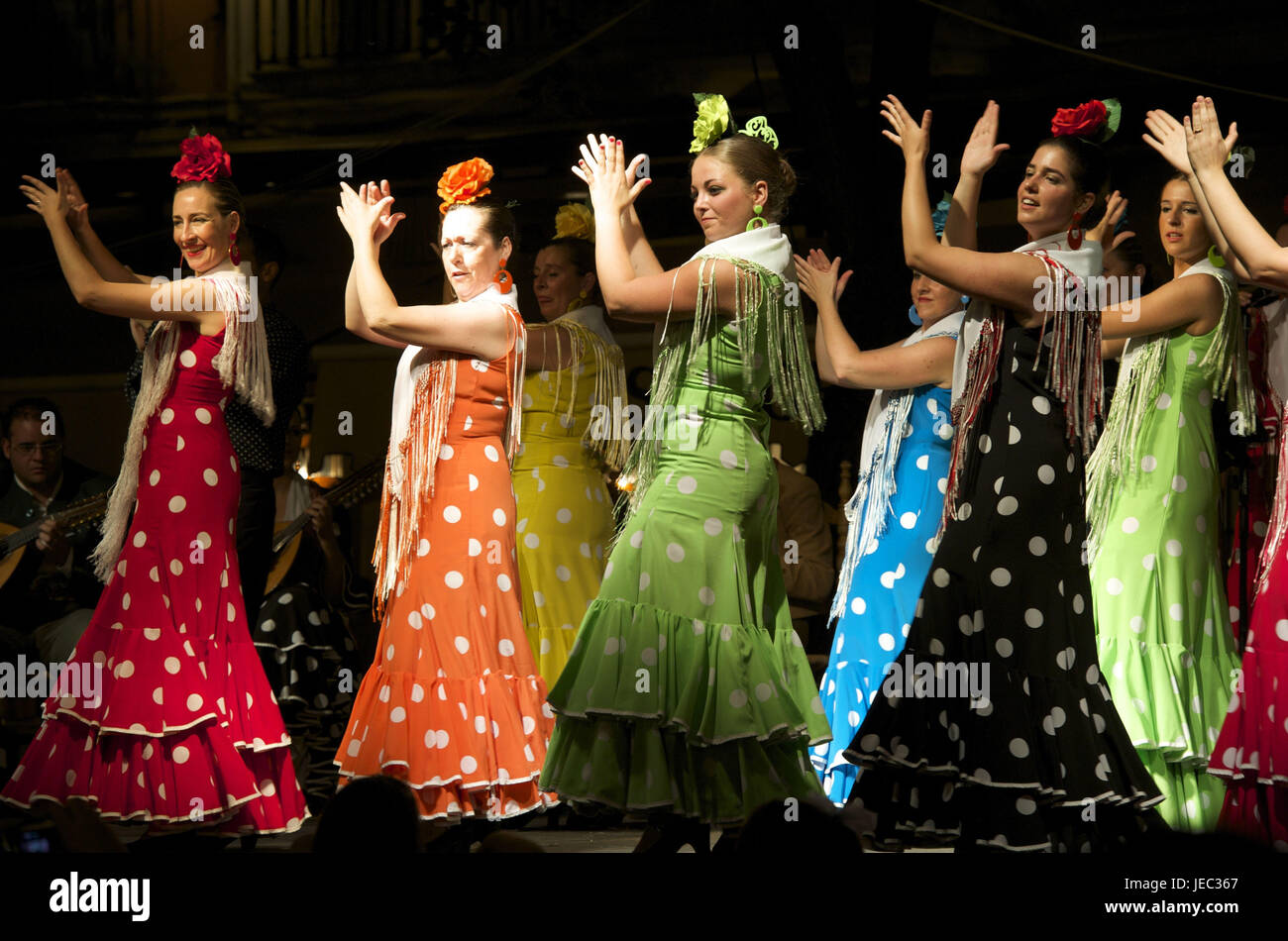 Spain, Andalusia, Granada, flamenco, dancers, - Stock Image