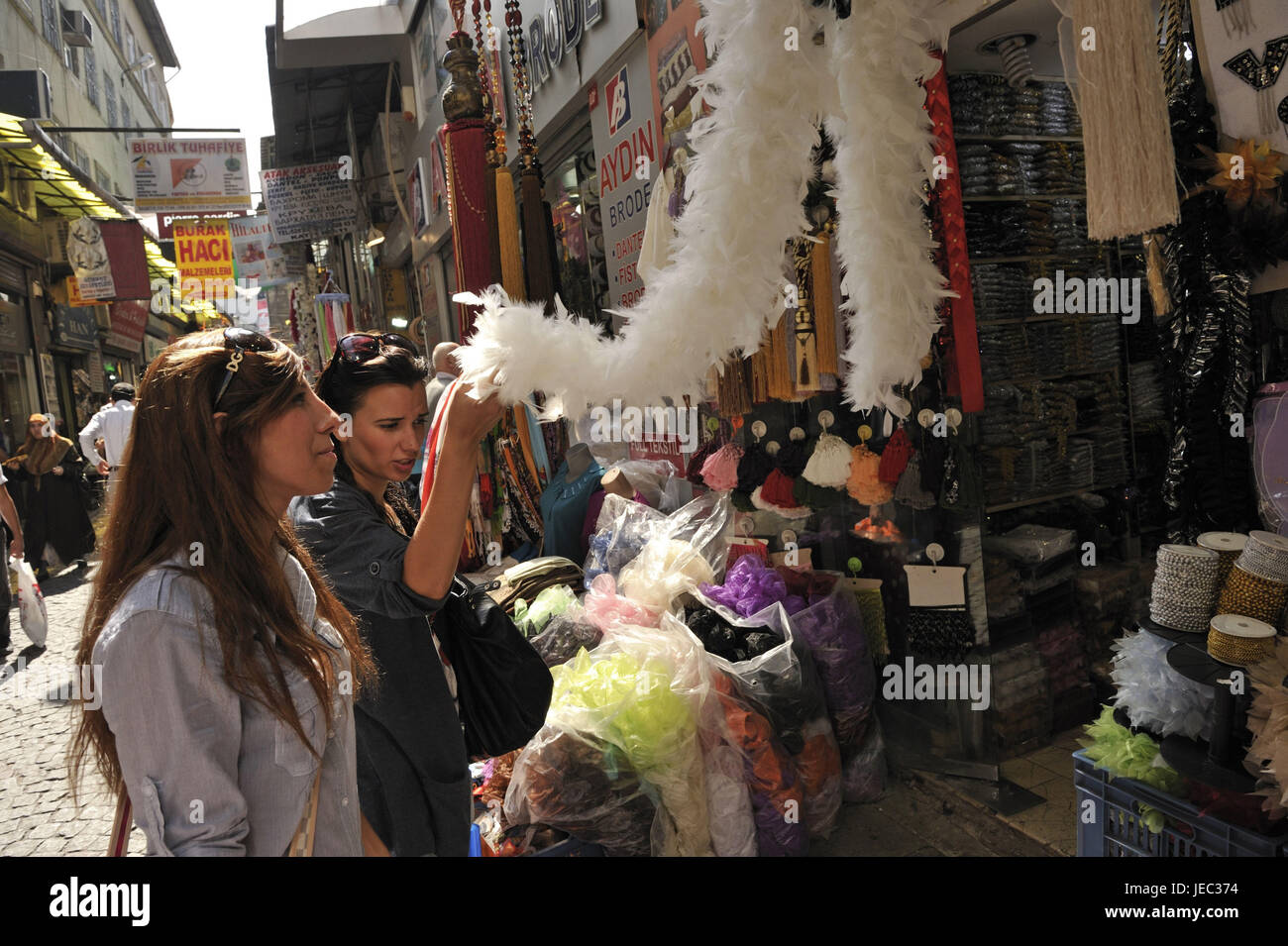 Turkey, Istanbul, part of town of Sultanahmet, Egyptian bazaar, Misir Carsisi, - Stock Image