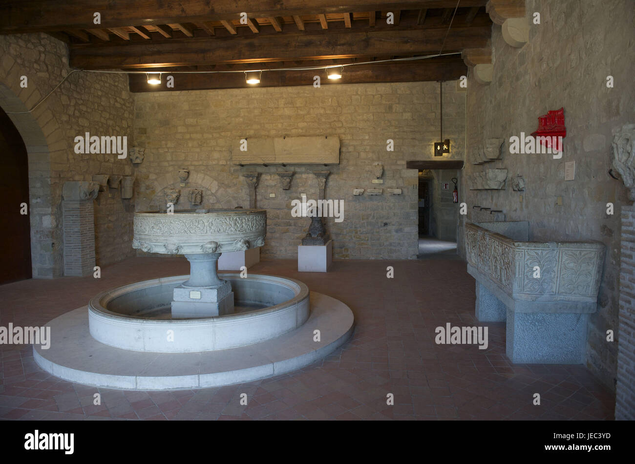 France, region Aude, Carcassonne, museum with stone artefacts, - Stock Image