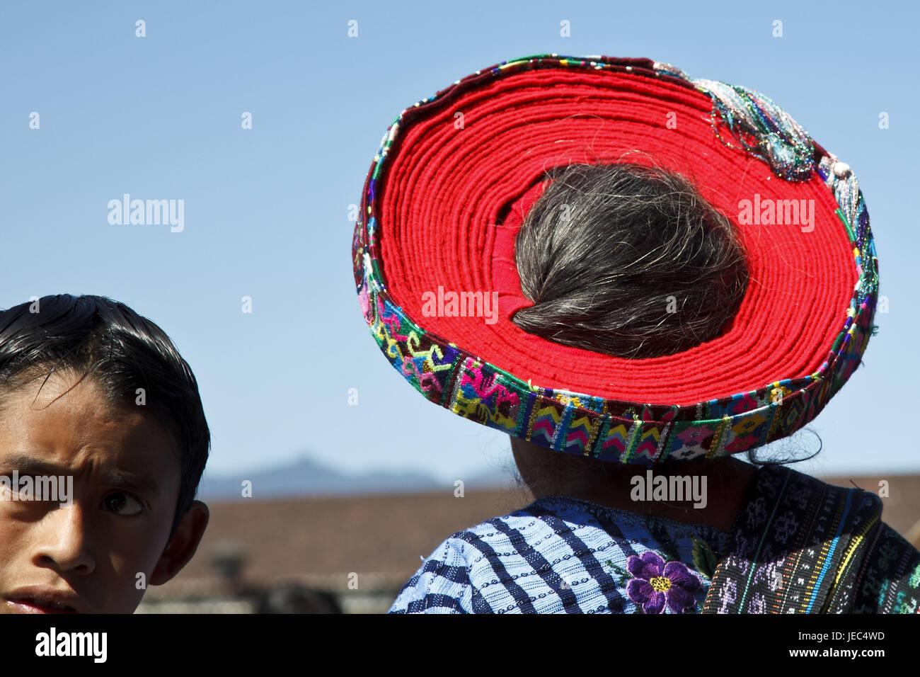 Guatemala, Atitlan lake, woman, Maya, no model release, - Stock Image
