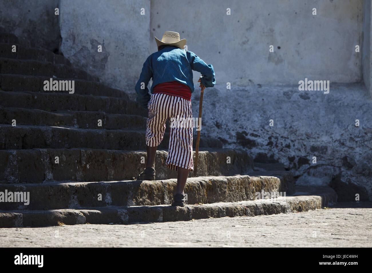 Guatemala, Atitlan lake, man, Maya, no model release, - Stock Image