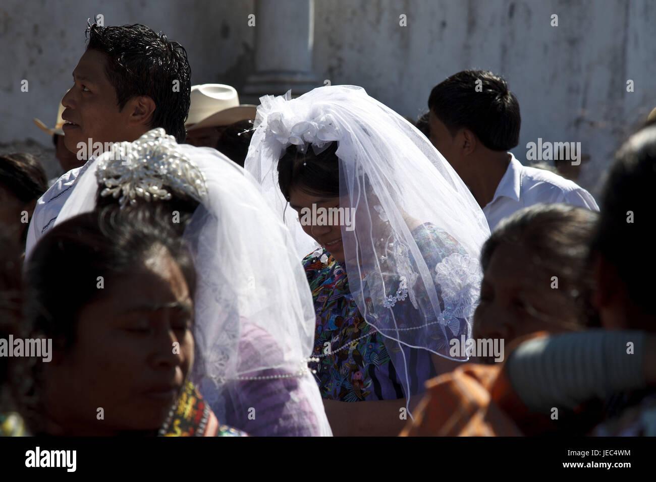 Guatemala, Atitlan lake, wedding, Maya, no model release, - Stock Image