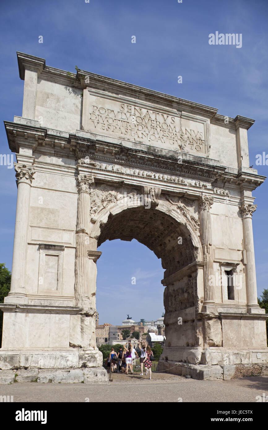 Italy, Rome, forum Romanum, Titus's bows, - Stock Image