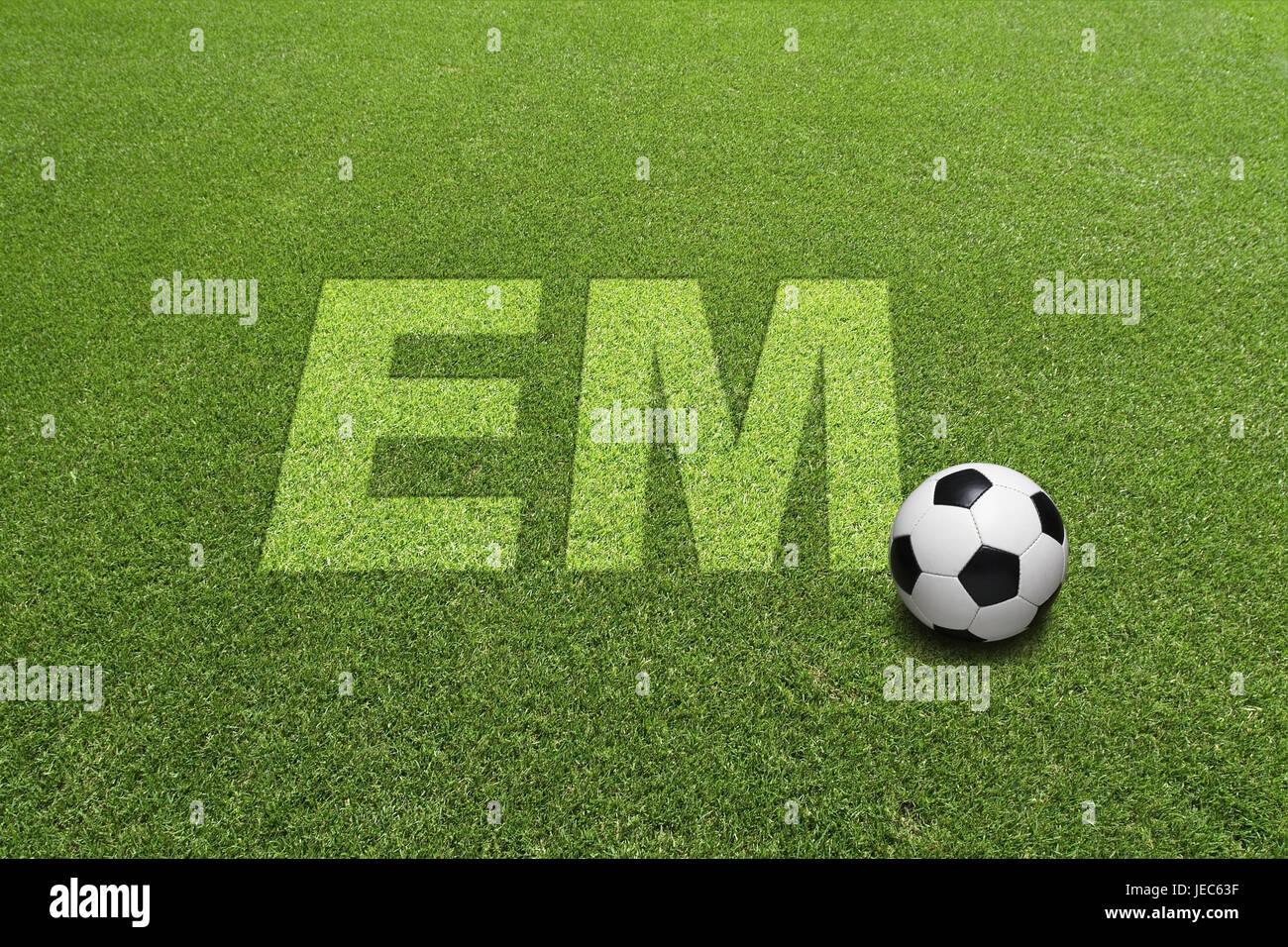 Turfs, football, stroke EM, - Stock Image