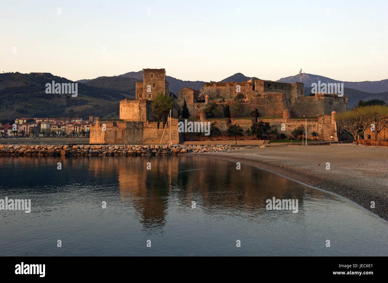 Europe, France, Collioure, château royal, Europe, France, Languedoc-Roussillon, Collioure, Département - Stock Image