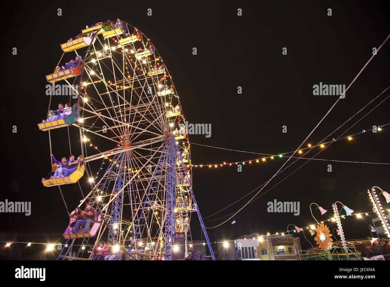 Guatemala, Esquipulas, Cristo Negro, fair, person, big dipper, night, no model release, - Stock Image