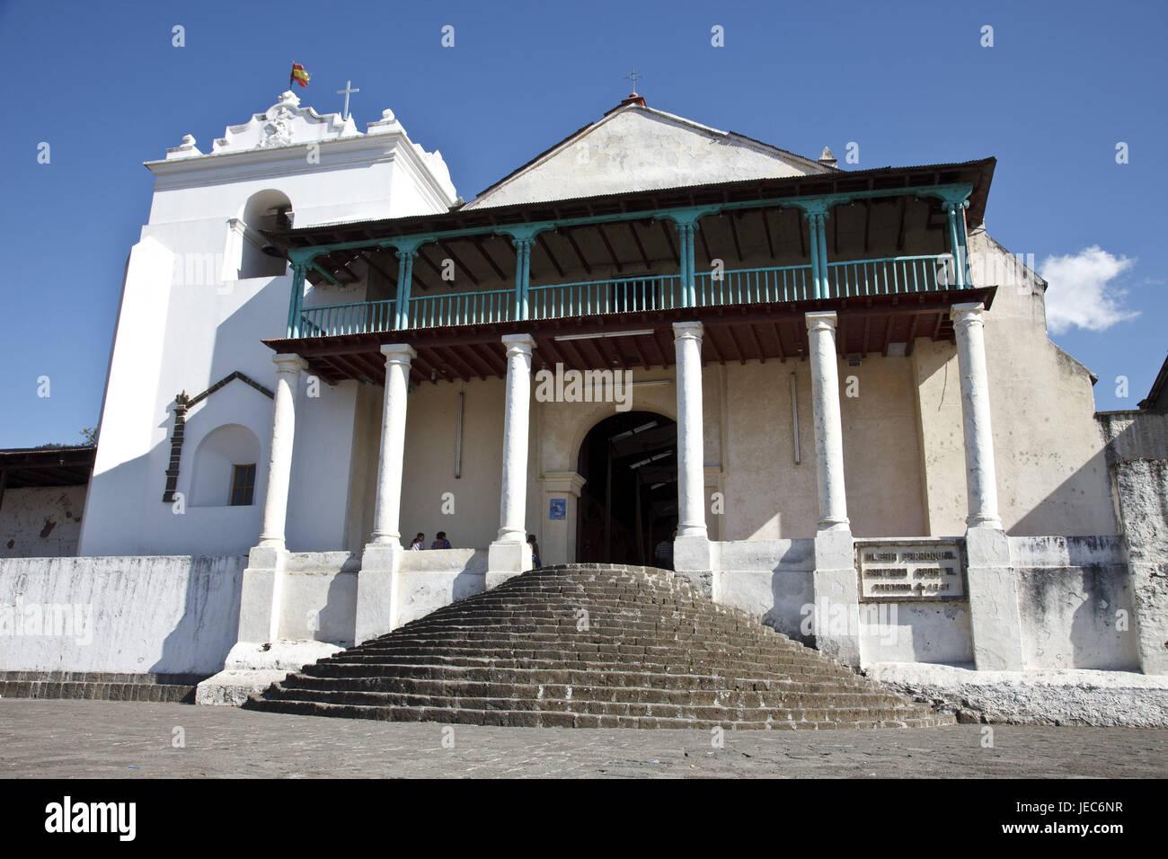 Guatemala, Atitlan lake, church, Santiago Atitlan, Stock Photo