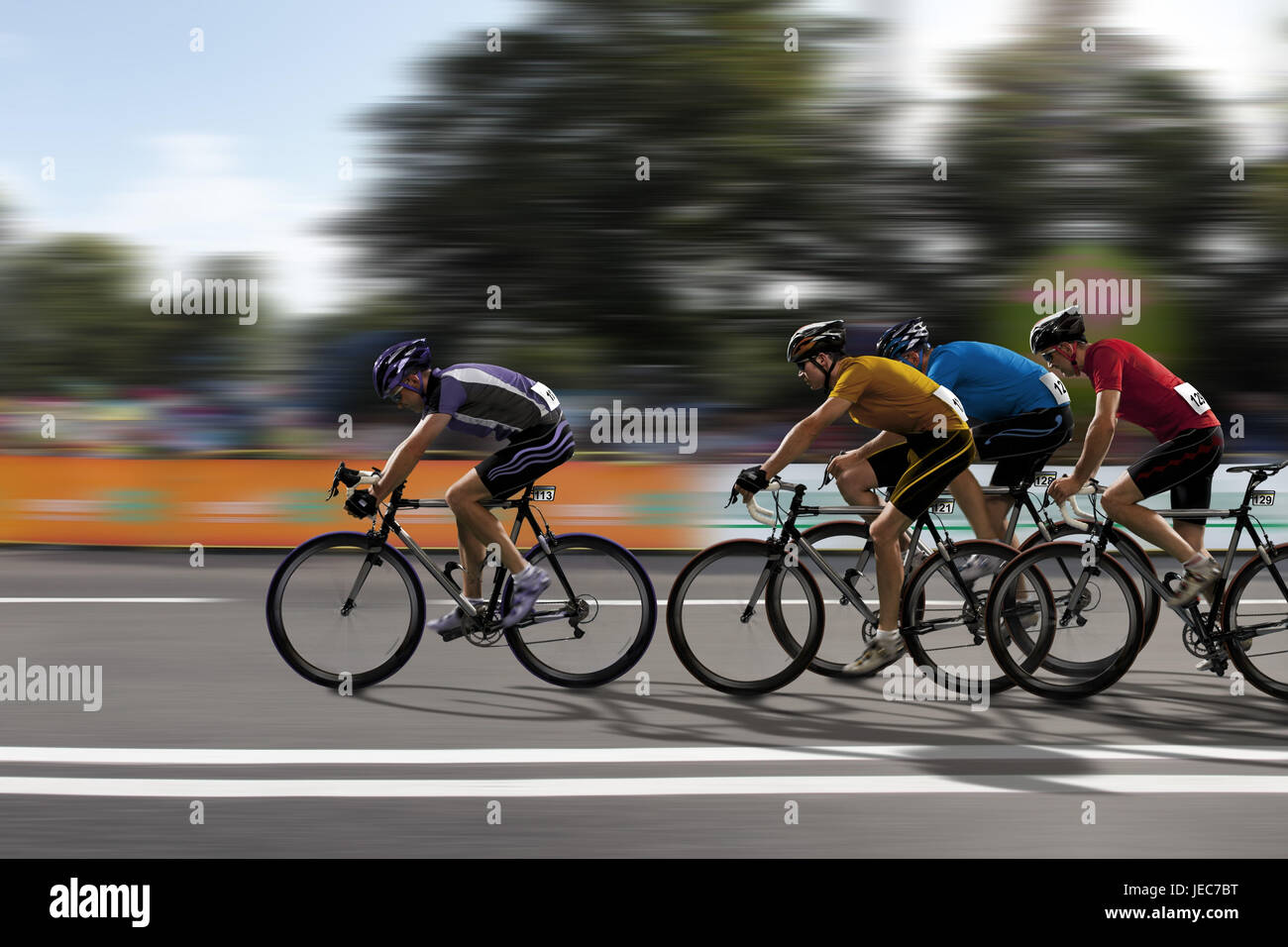 Racing cyclist, bicycle races, fight, - Stock Image