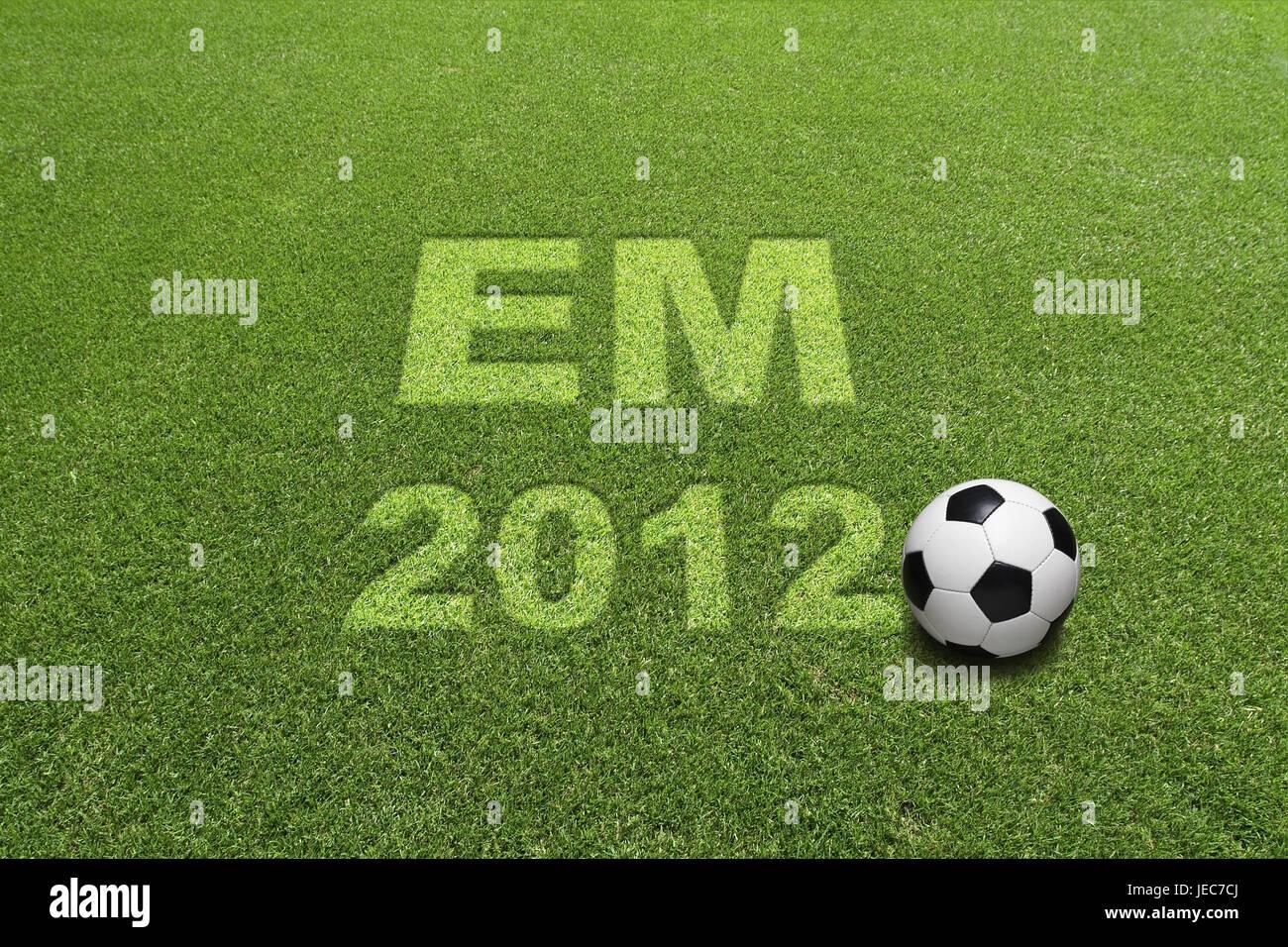 Turfs, football, stroke EM 2012, - Stock Image