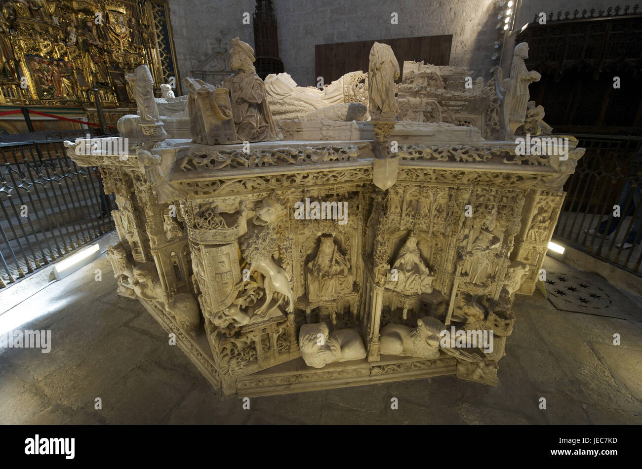Spain, Castile and Leon, Burgos, Carthusian monastery, Cartuja de Miraflores, mausoleum, Stock Photo